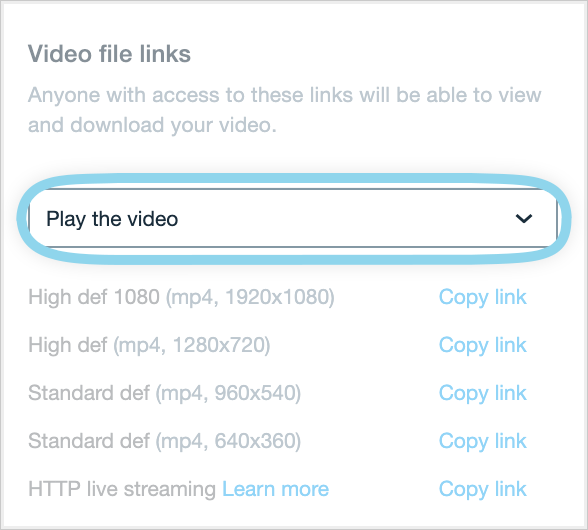 Direct links to video files – Help Center