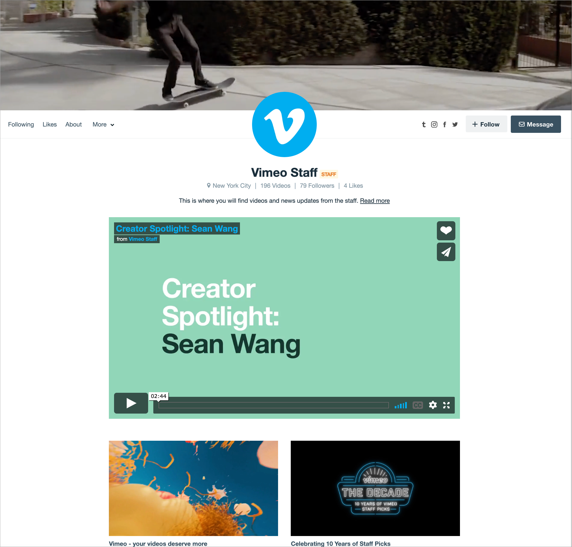 Managing your Vimeo profile – Help Center
